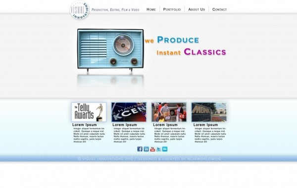 Visual Innovations Website